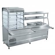 Мини-линия раздачи ABAT «Аста» ПВХМ-70КМУ (Прилавок-витрина холодильный мармитный универсальный)