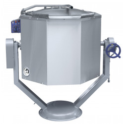 Котел пищеварочный ABAT КПЭМ-100 ОР опрокидываемый с ручным приводом - интернет-магазин КленМаркет.ру