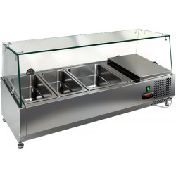 Витрина охлаждаемая настольная HICOLD VRTG 2 со стеклом к столу для пиццы PZ3-11 [284225] - интернет-магазин КленМаркет.ру