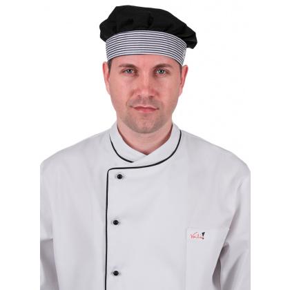 Шапочка повара черная [030] - интернет-магазин КленМаркет.ру