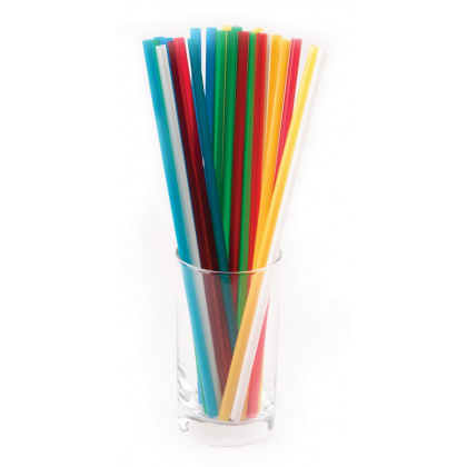 Трубочки без сгиба разноцветные 240 мм 250 шт [ПС-ЮП011] - интернет-магазин КленМаркет.ру