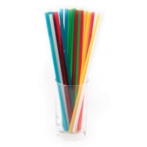Трубочки без сгиба разноцветные 240 мм 250 шт [ПС-ЮП011]