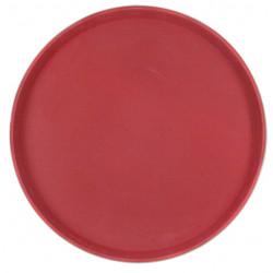 Поднос прорезиненный круглый 350х25 мм бордовый [1400CT Dark red] - интернет-магазин КленМаркет.ру
