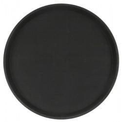 Поднос прорезиненный круглый 350х25 мм черный [1400CT Black] - интернет-магазин КленМаркет.ру