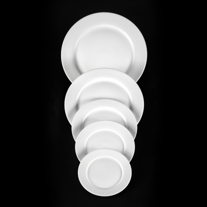 Тарелка мелкая «Chan Wave» 225 мм - интернет-магазин КленМаркет.ру