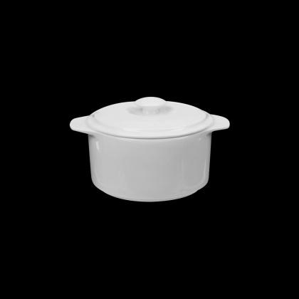Горшочек с крышкой без блюдца «Chan Wave» 300 мл - интернет-магазин КленМаркет.ру