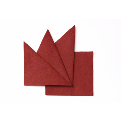 Салфетка бумажная бордовая 240х240 мм 400 шт - интернет-магазин КленМаркет.ру