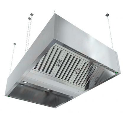 Зонт вытяжной островной коробчатый HICOLD ЗКВОО-1220 с подсветкой - интернет-магазин КленМаркет.ру