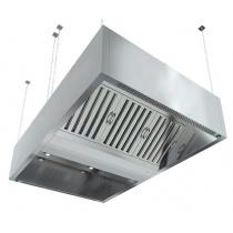 Зонт вытяжной островной коробчатый HICOLD ЗКВОО-1220 с подсветкой