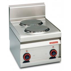 Плита электрическая LOTUS PC-4ET двухконфорочная без жарочного шкафа (серия 65) - интернет-магазин КленМаркет.ру