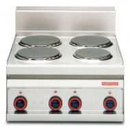 Плита электрическая LOTUS PC-6ET четырехконфорочная без жарочного шкафа (серия 65)