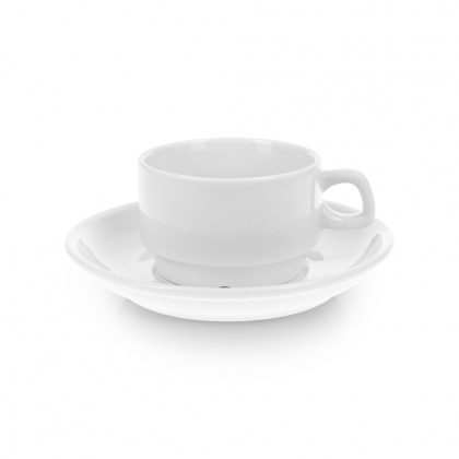 Чайная пара с круглым блюдцем «Collage» 250 мл - интернет-магазин КленМаркет.ру