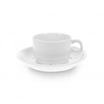 Чайная пара с круглым блюдцем «Collage» 180 мл