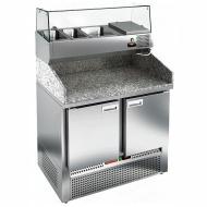 Стол охлаждаемый для пиццы HICOLD PZE3-11/GN с гранитной столешницей без витрины
