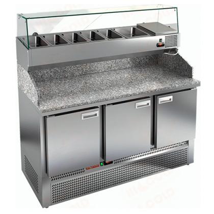 Стол охлаждаемый для пиццы HICOLD PZE3-111/GN с гранитной столешницей без витрины - интернет-магазин КленМаркет.ру