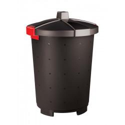 Бак для отходов с крышкой черный 65 л [460701681518, 431253713] - интернет-магазин КленМаркет.ру