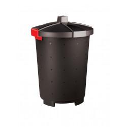 Бак для отходов с крышкой черный 45 л [460701681517,431253613] - интернет-магазин КленМаркет.ру