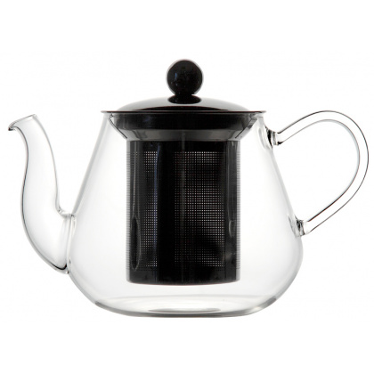 Чайник из боросиликатного стекла с нержавеющим фильтром 600 мл - интернет-магазин КленМаркет.ру
