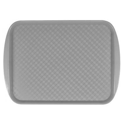 Поднос столовый из полистирола 450х350 мм серый [422106611] - интернет-магазин КленМаркет.ру