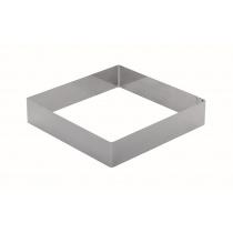 Форма для торта квадратная 220 мм, нержавеющая сталь