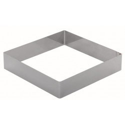 Форма для торта квадратная 260 мм, нержавеющая сталь - интернет-магазин КленМаркет.ру