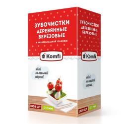 Зубочистки 1000 шт в индивидуальной упаковке - интернет-магазин КленМаркет.ру