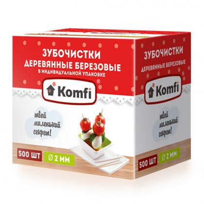 Зубочистки 500 шт в индивидуальной упаковке - интернет-магазин КленМаркет.ру