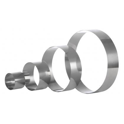 Форма для торта круглая Luxstahl 240 мм, нержавеющая сталь - интернет-магазин КленМаркет.ру