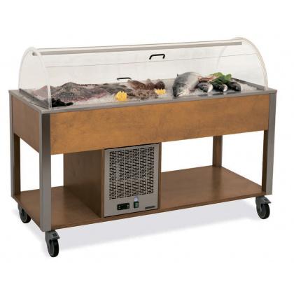 Стол «MetalCarrelli» для выкладки «рыбы на льду» [6930] - интернет-магазин КленМаркет.ру