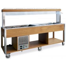 Стол Шведский комбинированный «MetalCarrelli» (защитное стекло статичное) [6920] - интернет-магазин КленМаркет.ру