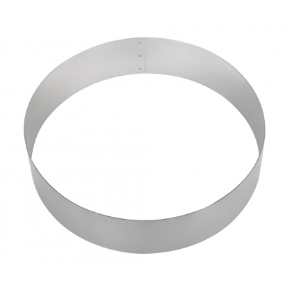 Форма для торта круглая Luxstahl 200 мм, нержавеющая сталь - интернет-магазин КленМаркет.ру