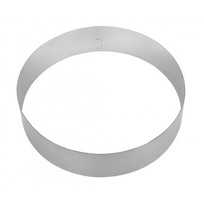 Форма для торта круглая Luxstahl 220 мм, нержавеющая сталь - интернет-магазин КленМаркет.ру