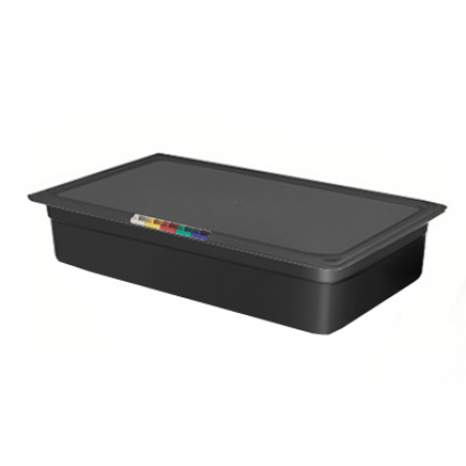 Гастроемкость из полипропилена без крышки GN 1/1 530х325х100 мм черная [422100113] - интернет-магазин КленМаркет.ру