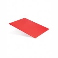 Доска разделочная 400х300х12 мм красный полипропилен