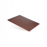 Доска разделочная 400х300х12 мм коричневый полипропилен
