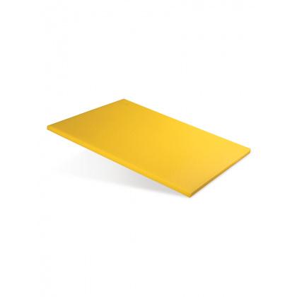 Доска разделочная 500х350х18 мм желтый полипропилен - интернет-магазин КленМаркет.ру