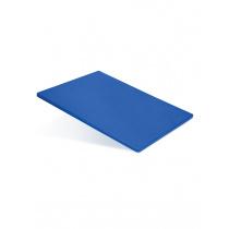 Доска разделочная 500х350х18 мм синий полипропилен
