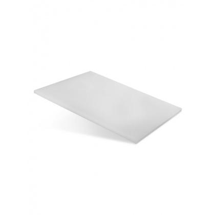 Доска разделочная 400х300х12 мм белый полипропилен - интернет-магазин КленМаркет.ру