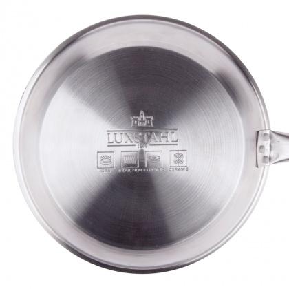 Сковорода Luxstahl 260/50 из нержавеющей стали, антипригарное покрытие [C24131] - интернет-магазин КленМаркет.ру