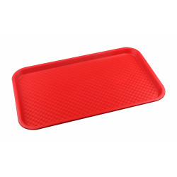 Поднос столовый из полипропилена 525х325 мм красный [4660011181318] - интернет-магазин КленМаркет.ру