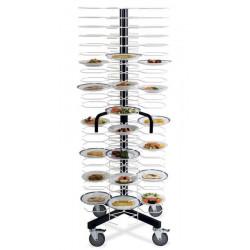 Тележка-шпилька «MetalCarrelli» на 96 тарелок (180 мм и 240 мм) [3010] - интернет-магазин КленМаркет.ру