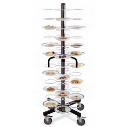 Тележка-шпилька «MetalCarrelli» на 72 тарелки (180 мм и 240 мм) [3009] - интернет-магазин КленМаркет.ру