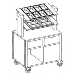 Прилавок для столовых приборов «MetalCarrelli» [6900 A20] - интернет-магазин КленМаркет.ру
