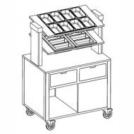 Прилавок для столовых приборов «MetalCarrelli» [6900 A20]
