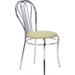 Стул «Вена» с мягким сиденьем (хромированный каркас)  - интернет-магазин КленМаркет.ру