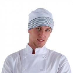 Колпак поварской белый/полоска [0157] - интернет-магазин КленМаркет.ру