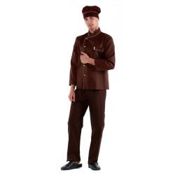 Куртка шеф-повара коричневая [0302] - интернет-магазин КленМаркет.ру