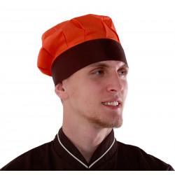 Колпак поварской оранжево-коричневый [036] - интернет-магазин КленМаркет.ру