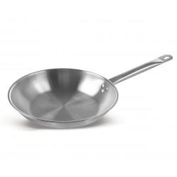 Сковорода Luxstahl 200/50 из нержавеющей стали [C24131] - интернет-магазин КленМаркет.ру