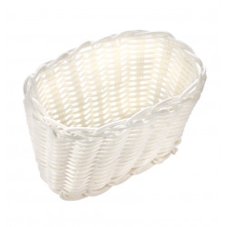 Корзинка пластиковая 160х100х100 мм белая [White 3560] - интернет-магазин КленМаркет.ру